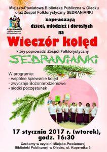 Wieczór kolęd w oleckiej bibliotece @ ul. Kopernika 6 | Olecko | warmińsko-mazurskie | Polska