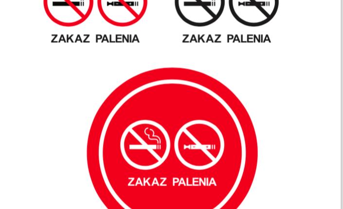 Nowy znak zakazu palenia uwzględniający papierosy elektroniczne