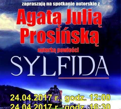 """Agata Prosińska, autorka książki """"Sylfida"""" i… uczennica LO w Olecku gościem oleckiej biblioteki"""