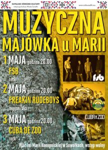 Muzyczna Majówka u Marii w Suwałkach: FSB, Freakin Rudeboys i Cuba de Zoo @ Suwałki | podlaskie | Polska