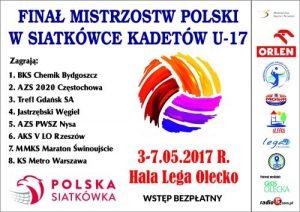 Finał Mistrzostw Polski w Siatkówce Kadetów U -17 w Hali Lega @ Hala Lega | Olecko | warmińsko-mazurskie | Polska