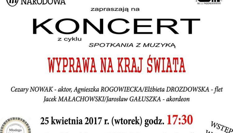 """""""Wyprawa na kraj świata"""". Koncert z cyklu """"Spotkania z muzyką"""" w sali kina """"Mazur"""""""