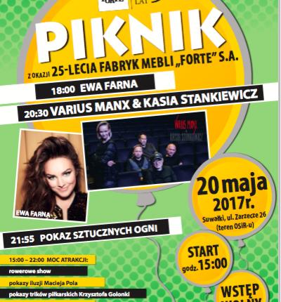 Ewa Farna, Various Manx i inne atrakcje. Piknik z okazji 25- lecia firmy Forte