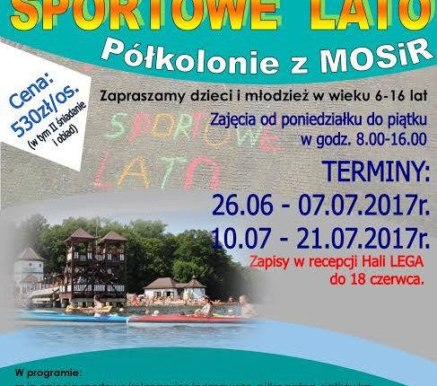MOSiR w Olecku zaprasza na imprezy sportowe i półkolonie Sportowe Lato