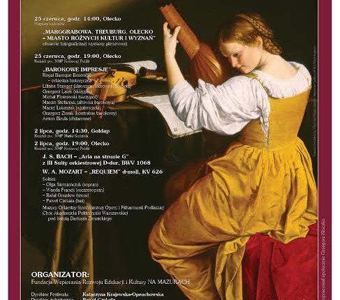 """""""Barok na Mazurach"""" – ponad 80 artystów, wystawa i wyjątkowe koncerty. Szczegóły imprezy"""