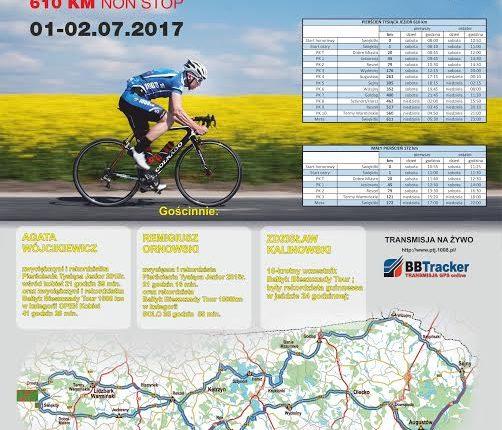 Uczestnicy kolarskiego ultramartonu Pierścień Tysiąca Jezior przejdą jutro przez Olecko