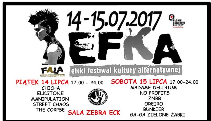 Ełcki Festiwal Kultury Alternatywnej EFKA. Już od piątku