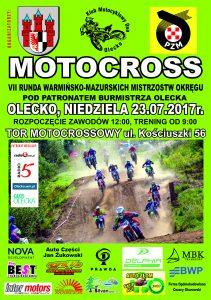 VII Runda Warmińsko - Mazurskich Mistrzostw Okręgu w motocrossie @ Olecki tor motocrossowy | Olecko | warmińsko-mazurskie | Polska