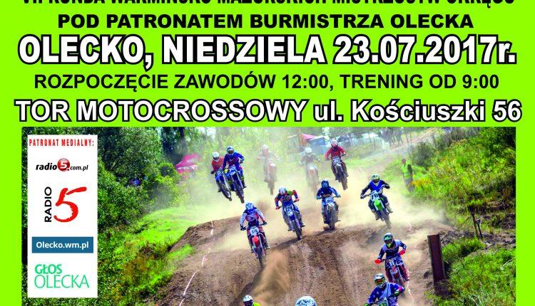 Motocrossowe ściganie w międzynarodowej obsadzie w Olecku