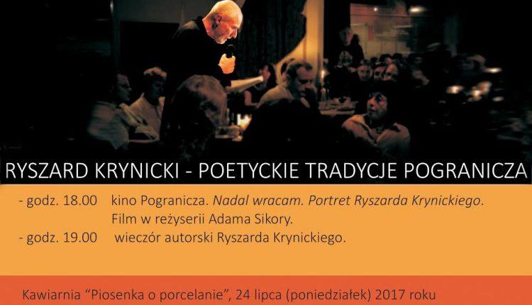 Wieczór autorski Ryszarda Krynickiego