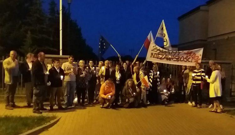 Protest pod oleckim Sądem