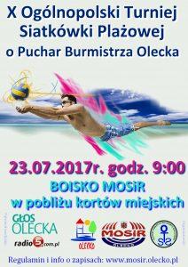 X Ogólnopolski Turniej Siatkówki Plażowej o Puchar Burmistrza Olecka @ Boiska MOSiR obok kortów miejskich | Olecko | warmińsko-mazurskie | Polska
