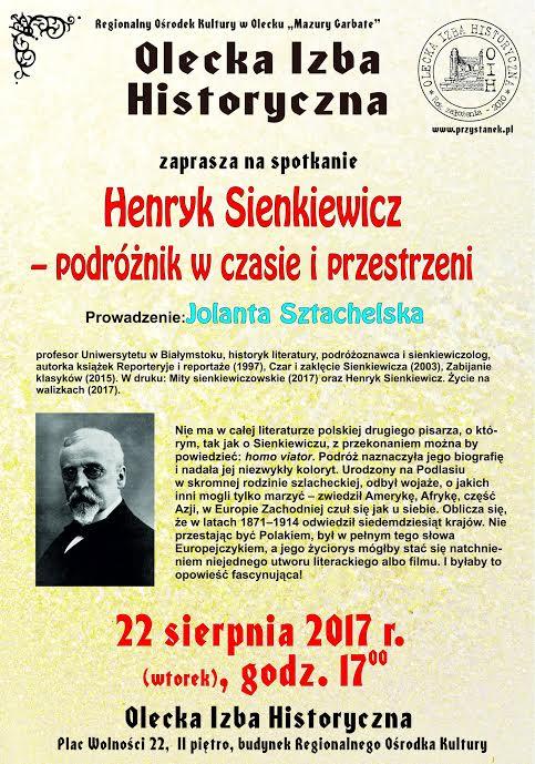 Henryk Sienkiewicz I Jego Podróże Spotkanie Z Jolantą Sztachelską W
