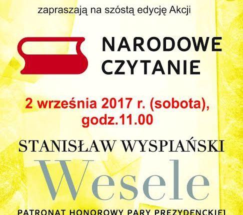 """Narodowe Czytanie """"Wesela"""" Stanisława Wyspiańskiego w Olecku"""