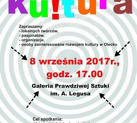 Mieszkańcy Olecka o kulturze i dla kultury. Spotkanie poświęcone tematom związanym z kulturą