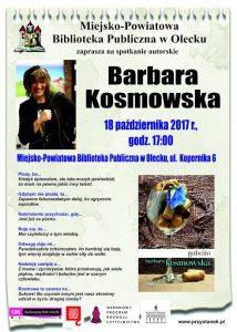 Spotkanie autorskie z Barbarą Kosmowską w oleckiej bibliotece @ Miejsko-Powiatowa Biblioteka publiczna w Olecku | Olecko | warmińsko-mazurskie | Polska