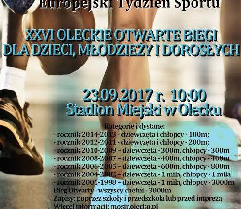 Europejski Tydzień Sportu w Olecku
