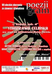 VII Festiwal Oleckie Zderzenia ze Słowem i Dźwiękiem POEZJI GRAM @ ROK - sala kina Mazur | Olecko | warmińsko-mazurskie | Polska