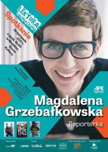 Spotkanie z Magdaleną Grzebałkowską w Miejskim Domu Kultury w Augustowie @ Miejski Dom Kultury | Augustów | podlaskie | Polska