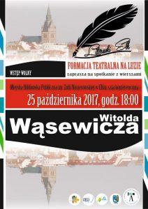 SPOTKANIE Z CYKLU LITERACKI EŁK - TWÓRCZOŚĆ WITOLDA WĄSEWICZA @ Miejska Biblioteka Publiczna im. Zofii Nasierowskiej w Ełku | Ełk | warmińsko-mazurskie | Polska