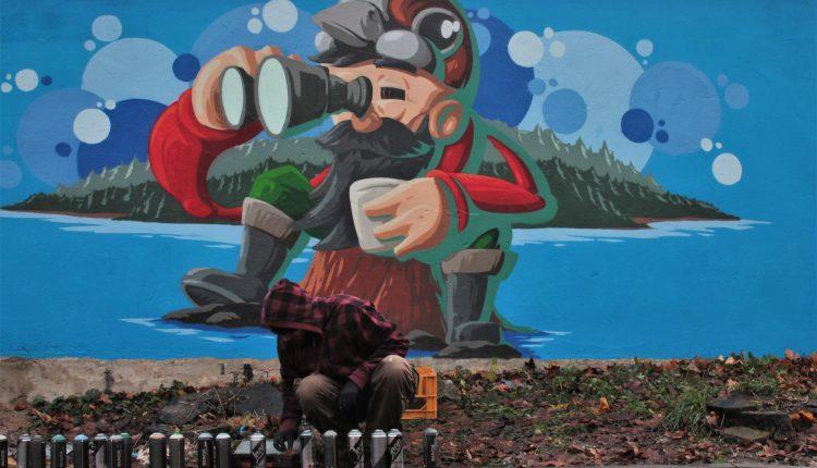 Pierwsze oleckie graffiti