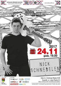 Bluesowy listopad w Suwalskim Ośrodku Kultury. Koncert NICKA SCHNEBELENA @ SOK - Sala im. A. Wajdy | Suwałki | podlaskie | Polska