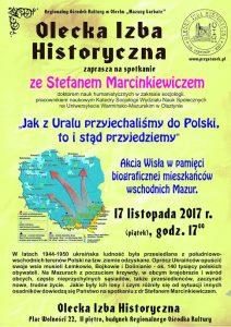Olecka Izba Historyczna zaprasza na spotkanie z dr Stefanem Marcinkiewiczem @ ROK - OIH - II piętro | Olecko | warmińsko-mazurskie | Polska