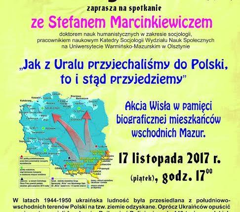 Olecka Izba Historyczna zaprasza na spotkanie z dr Stefanem Marcinkiewiczem