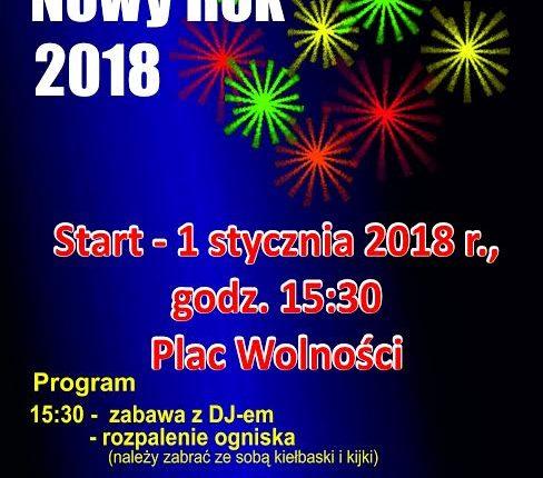 Powitanie Nowego Roku na placu Wolności