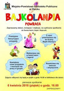 Bajkolandia w Miejsko-Powiatowej Bibliotece w Olecku @ Miejsko-Powiatowa Biblioteka w Olecku | Olecko | warmińsko-mazurskie | Polska