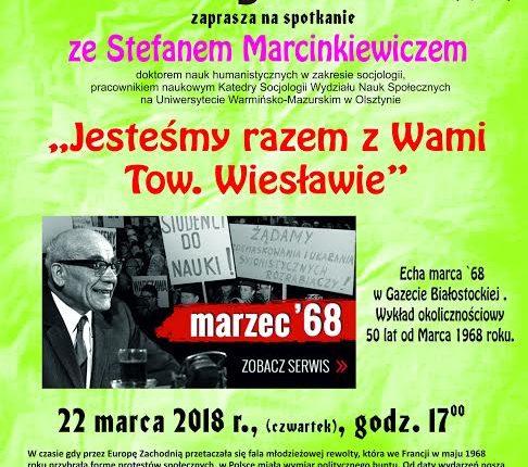 """""""Jesteśmy razem z Wami Tow. Wiesławie"""". Spotkanie w Oleckiej Izbie Historycznej"""